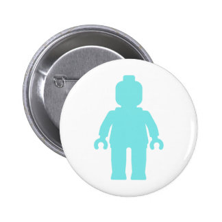 Minifig [Light Blue] by Customize My Minifig Pinback Button