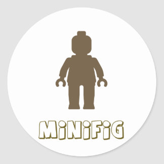 Minifig [Light Brown] by Customize My Minifig Sticker