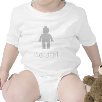 Minifig [Light Grey] by Customize My Minifig Baby Bodysuits