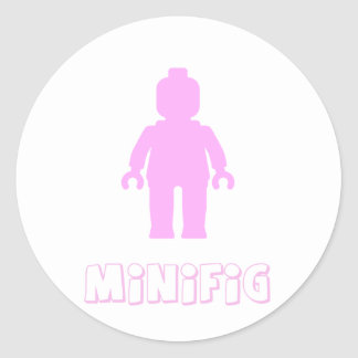 Minifig [Light Pink] by Customize My Minifig Sticker