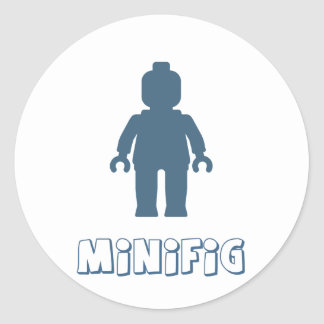 Minifig [Navy Blue] by Customize My Minifig Sticker