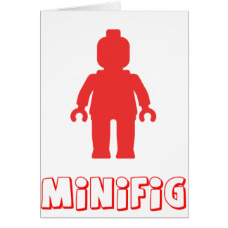 Minifig [Red] by Customize My Minifig Cards
