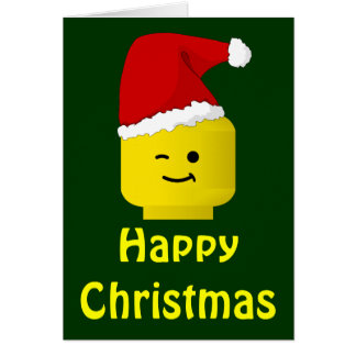 Minifig Santa Happy Christmas Customize My Minifig Greeting Card
