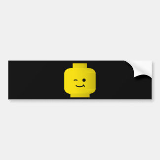 Minifig Winking Head Bumper Sticker