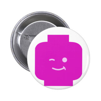Minifig Winking Head by Customize My Minifig Buttons