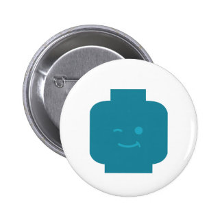 Minifig Winking Head by Customize My Minifig Pinback Button