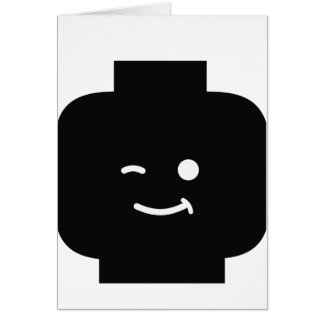 Minifig Winking Head by Customize My Minifig Greeting Cards