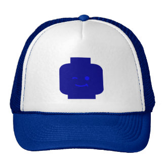 Minifig Winking Head by Customize My Minifig Trucker Hat
