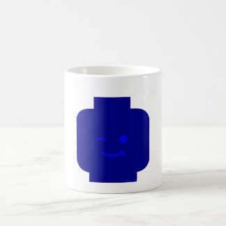 Minifig Winking Head by Customize My Minifig Coffee Mugs
