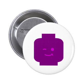 Minifig Winking Head by Customize My Minifig Pin