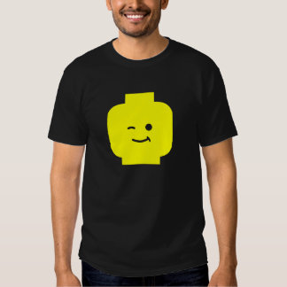 Minifig Winking Head by Customize My Minifig T-shirts