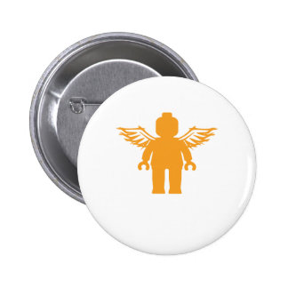 MINIFIG WITH ANGEL WINGS by CUSTOMIZE MY MINIFIG Pinback Button