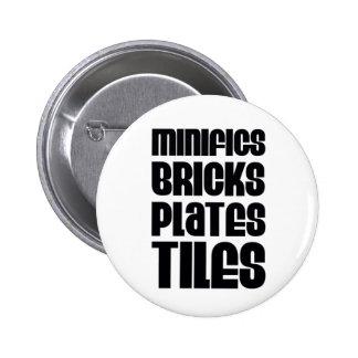 MINIFIGS BRICKS PLATES TILES PINBACK BUTTONS