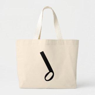 Minim Musical Note Jumbo Tote Bag