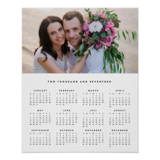 Minimal 16x20 2017 Yearly Photo Calendar Poster