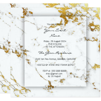 Minimal 3-Faux Gay White Carrara Conceptual Marble Card