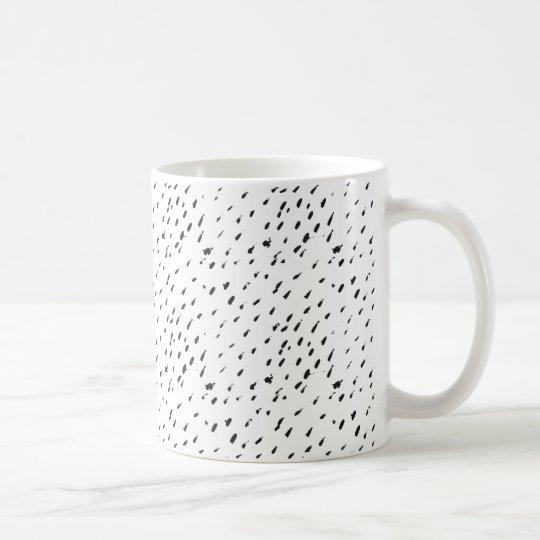 Minimal Abstract Black Dots Cute Spotted Mug