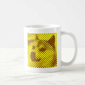 Minimal/abstract doge basic white mug