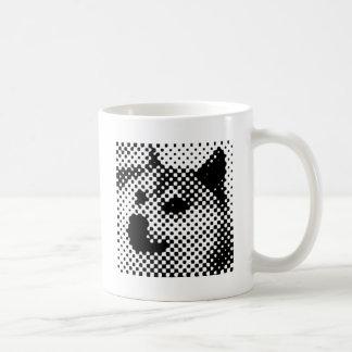 Minimal/abstract doge basic white mug