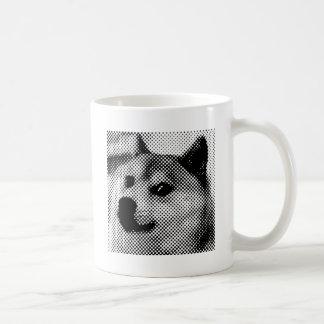 Minimal/abstract doge coffee mugs