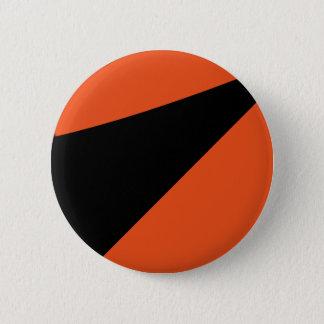 Minimal Abstract Orange / Black 6 Cm Round Badge