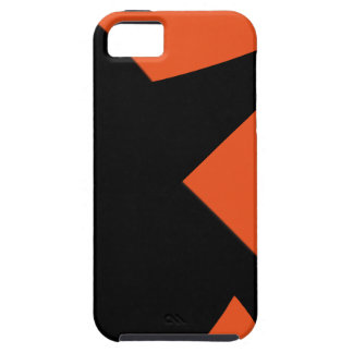 Minimal Abstract Orange / Black Case For The iPhone 5