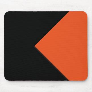 Minimal Abstract Orange / Black Mouse Pad