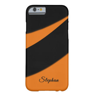 Minimal Abstract Orange / Black Personalized Barely There iPhone 6 Case