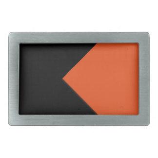 Minimal Abstract Orange / Black Rectangular Belt Buckle