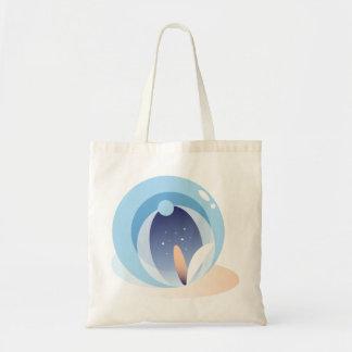 Minimal Abstract Water Lotus Tote Bag