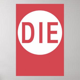 Minimal Action Poster - Die