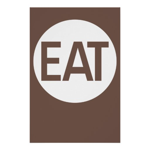 Minimal Action Poster - Eat