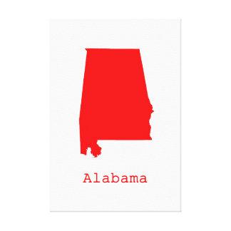 Minimal Alabama United States Canvas Print