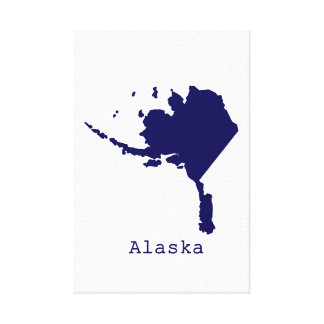 Minimal Alaska United States Canvas Print
