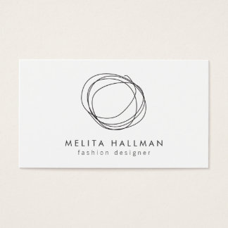 Minimal and Modern Black Designer Scribble Logo