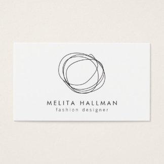 Minimal and Modern Black Designer Scribble Logo