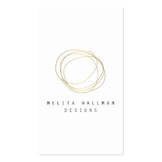 Minimal and Modern Designer Scribble Logo in Gold