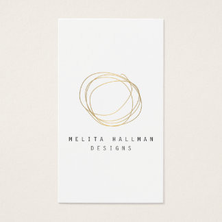 Minimal and Modern Designer Scribble Logo in Gold