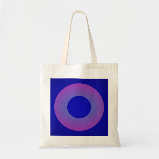 Minimal Art Ring Dark Blue Background Tote Bag