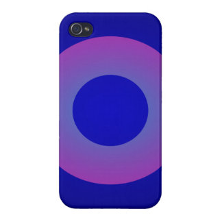Minimal Art Ring Dark Blue Background iPhone 4 Cover