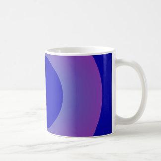 Minimal Art Ring Dark Blue Background Coffee Mug