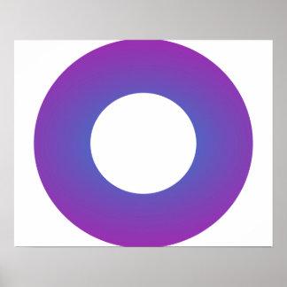 Minimal Art Ring Lavender Poster