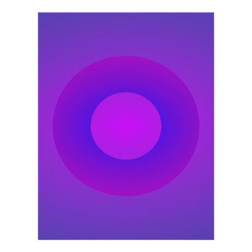 Minimal Art Ring Purple Background Personalized Flyer
