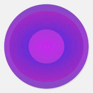 Minimal Art Ring Purple Background Round Sticker