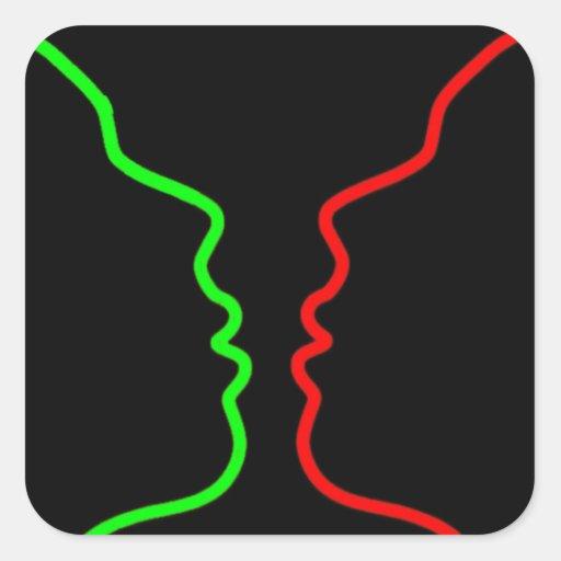 Minimal Art - Sensual MISS, Lets have a KISS Stickers