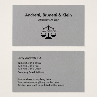 Minimal Attorney Law Office Businesscards Business Card