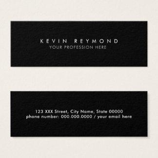 minimal basic simple black professional mini business card