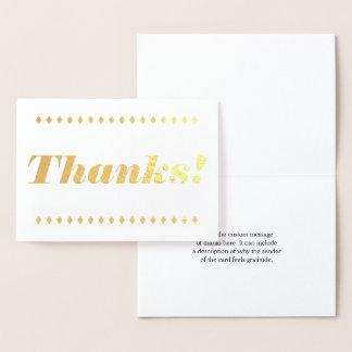 """Minimal, Basic & Simple """"Thanks!"""" Card"""