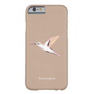 Minimal beige hummingbird feminine chic marries barely there iPhone 6 case