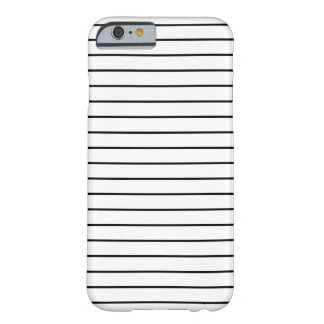 Minimal Black and White Stripes iPhone 6 Case Barely There iPhone 6 Case